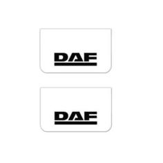 2x Mud flap DAF white black 64x36