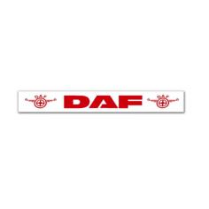 Schmutzfänger DAF Auflieger Weiß Rot
