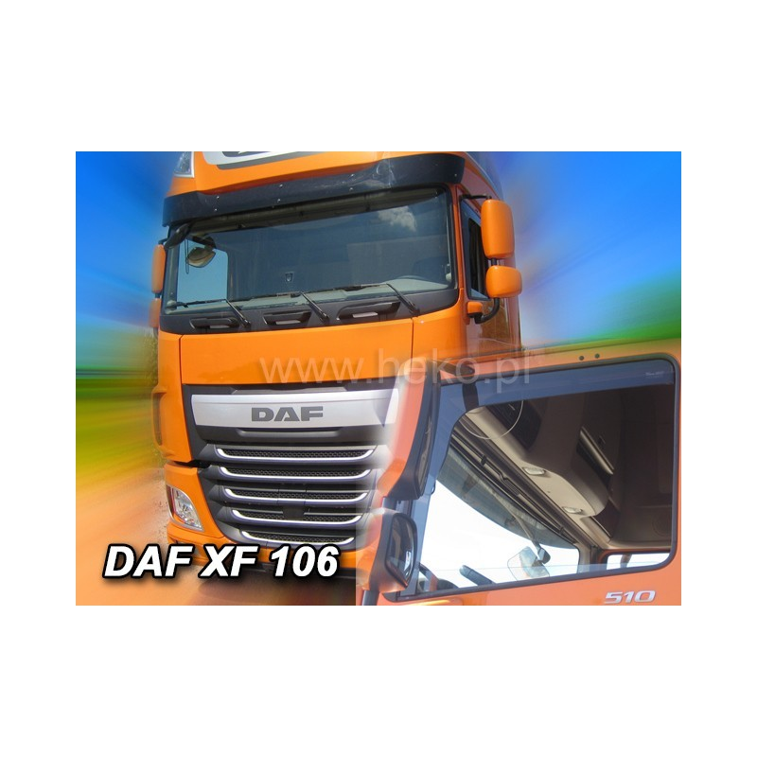 Ofuky oken DAF XF 106 E6